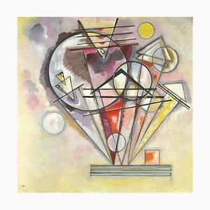 Litografia Wassily Kandinsky, composizione geometrica, 1966