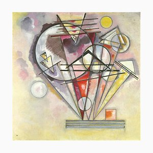 Wassily Kandinsky, Geometric Composition Lithograph, 1966