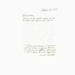 Carlo Belli, Letter To the Countess Pecci Blunt, 1966