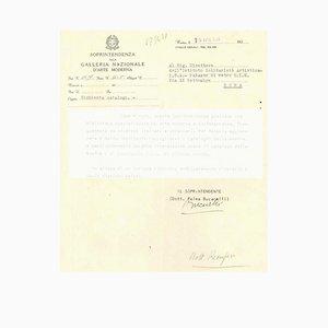 Palma Bucarelli, Letter, 1954
