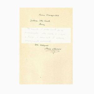 Mino Maccari - Letter to Countess Pecci Blunt - 1937