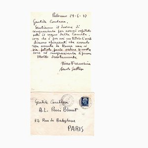 Renato Guttuso, Letter by Renato Guttuso to the Countess Pecci Blunt, 1934