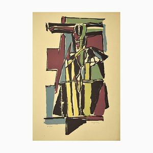 Guido La Regina - Kreuzigung - Linoleum - Spätes 20. Jahrhundert