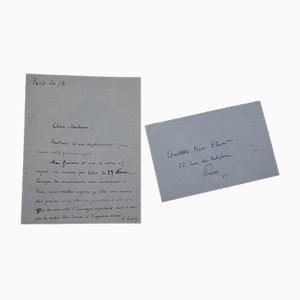 Georges Goyan - Entschuldigungsbrief - 1920er