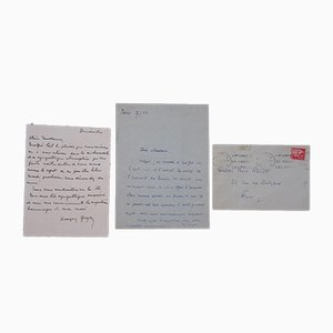 Georges Goyan, Autograph Apology Letters, 1936/1937