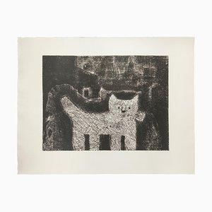 Gian Paolo Berto - The Cat - Acquaforte - Fine XX secolo