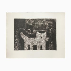 Gian Paolo Berto - The Cat - Etching - Late 20th-Century