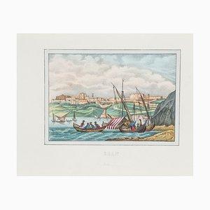 Unknown - View of Oran - Original Lithograph - 1846