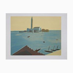 Virgilio Guidi, Venedig, Lithographie, 1982
