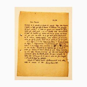 Letter from Arrigo Benedetti to Mino Maccari, 1935