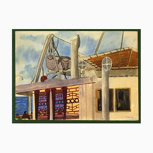 Jane Levy - Aramis Ship - Encre, Pastel et Aquarelle - 1930s