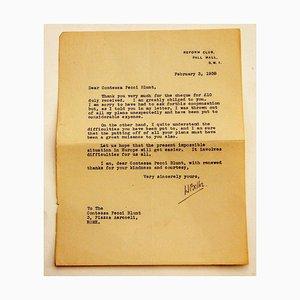 Lettera di Hilaire Belloc alla contessa Pecci Blunt, 1938