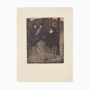 Aldo Borgonzoni - The Meeting - Etching - 1930
