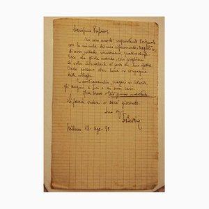 Lettera di Enrico Bertini, anni '30