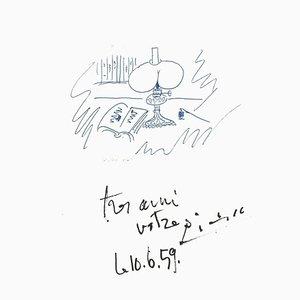 Pablo Picasso - Souvenir - Lithograph - 1982