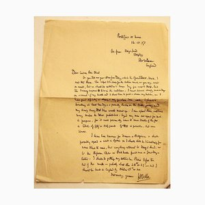 Unknown - Letter from Hilaire Belloc to Countess Pecci Blunt from Portofino - 1937