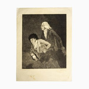 Louis-Léopold Boilly, Homage To Goya, Etching, 19th Century