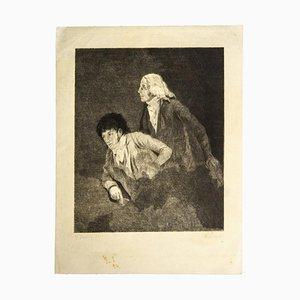 Louis-Léopold Boilly, Homage To Goya, Radierung, 19. Jahrhundert
