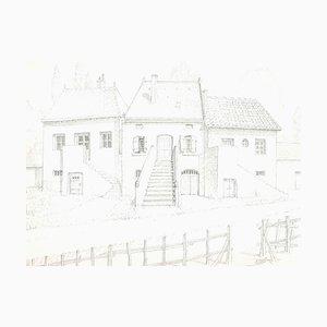 Dessin Andrew Andrew Brudieux - William Castle - Dessin au Crayon - 1960s