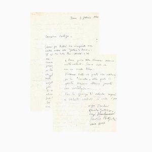 Orfeo Tamburi - Letter to Countess Pecci Blunt - 1940