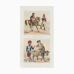 Unknown - Garde de la Convention and Vivandère - Original Lithograph - 19th Century