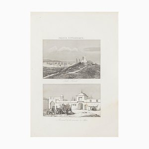 Unknown - Sidi French and Arsenal d'Algier - Original Lithograph - 19th century