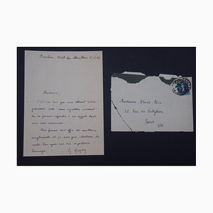 Georges Goyan - Autographed Greeting Letter - 1923
