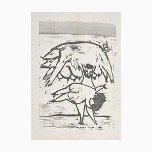 Mino Maccari - Mamma Roma - Incisione su legno - metà XX secolo