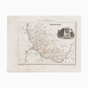 Sconosciuto - Mappa di Vaucluse - Incisione originale - XIX secolo