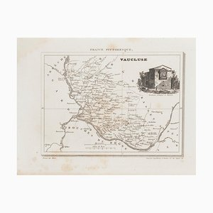 Unknown - Map of Vaucluse - Original Etching - 19th Century