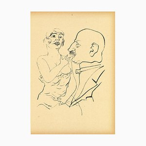Lithographie, George Grosz, Couple, Offset and Lithograph, 1923