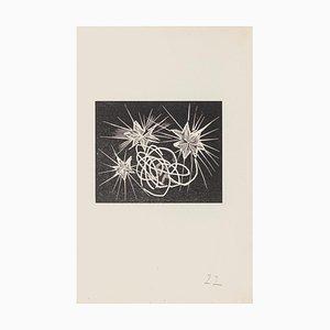 Mino Maccari - Dreamy - Holzschnitt auf Papier - Mitte des 20. Jahrhunderts