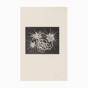 Mino Maccari - Dreamy - Woodcut on Paper - Mid-20th-Century