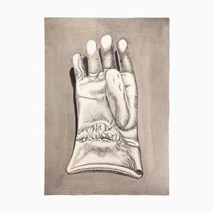 Giacomo Porzano, Handschuh, Radierung auf Karton, 1972