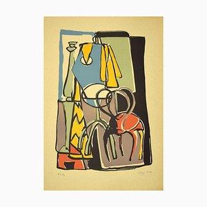 Guido La Regina - Composition - Linoleum - Late 20th-Century