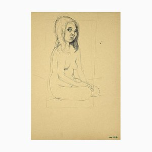 Leo Guida - Nude Girl - Drawing on Paper - 1970s
