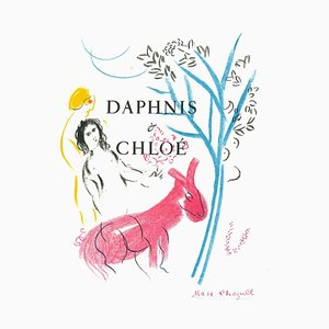 Marc Chagall - Daphnis and Chloè - Lithographie - 1982