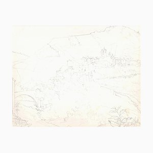 Andrew Roland Brudieux - Landscape of France - Bleistiftzeichnung - 1960er Jahre