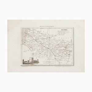 Sconosciuto, Map of Somme, Etching, 19th Century