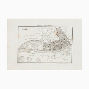 Unknown, Map of Lyon, Etching, 19th Century
