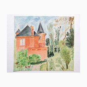 Technique Mixte, Moyen Âge, 20ème Siècle, Jean Fou, The Castle and the Garden
