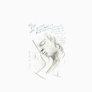 Jean Cocteau, Profil, Lithographie, 1982
