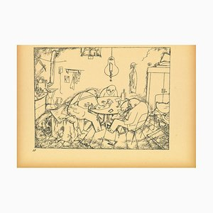 George Grosz, Apachen, Offset and Lithograph, 1923