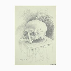 Leo Guide, The Skull, Drawing, 1976