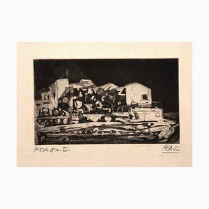 Miguel Angel Ibartz, Landscape, Radierung, Mitte des 20. Jahrhunderts