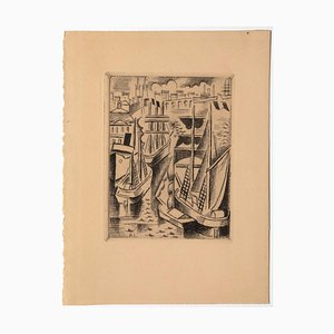 André Lothe, Bordeaux, Etching, Early 20th Century