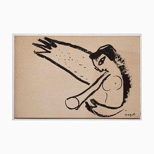 Marc Chagall, Engel, Lithographie, Mitte des 20. Jahrhunderts