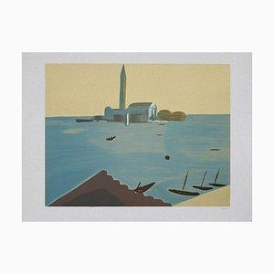 Virgilio Guidi, Venezia, Lithograph, 1982