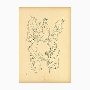 George Grosz, Genre Scene from Ecce Homo, Offset and Lithograph, 1923