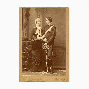 Unknown - Princess Victoria and Prince Gustaf of Sweden - Ancient Photo - 1881